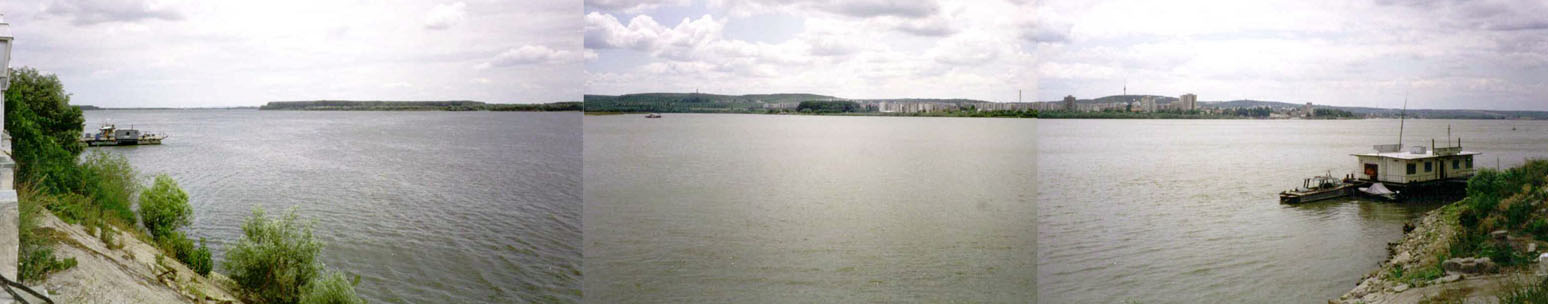 Silistra in Bulgaria seen across the full Donau, width 2.4 Km
