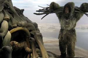 Mammoth Bone Huts Diorama Museum Of Natural History