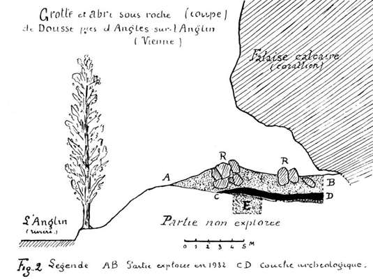 coupe of the 1933 excavations