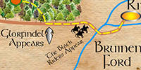 lotr map from Bree to Rivendell