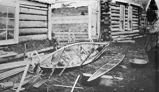 Construction of Kayak-Form Canoe of the lower Yukon