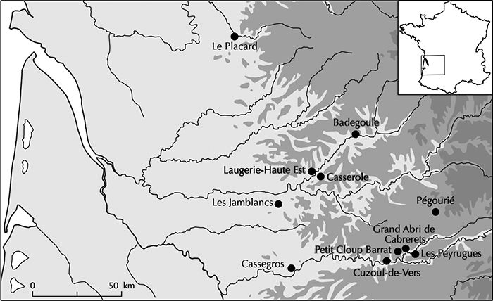 Cassegros location map
