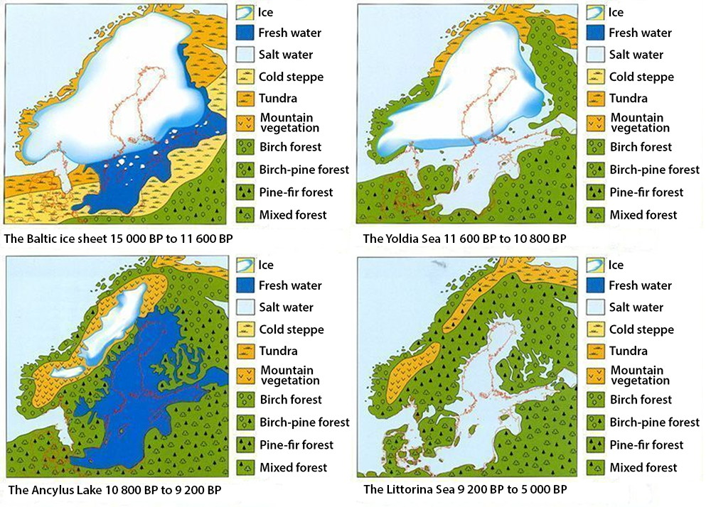 danish map iceage stages map